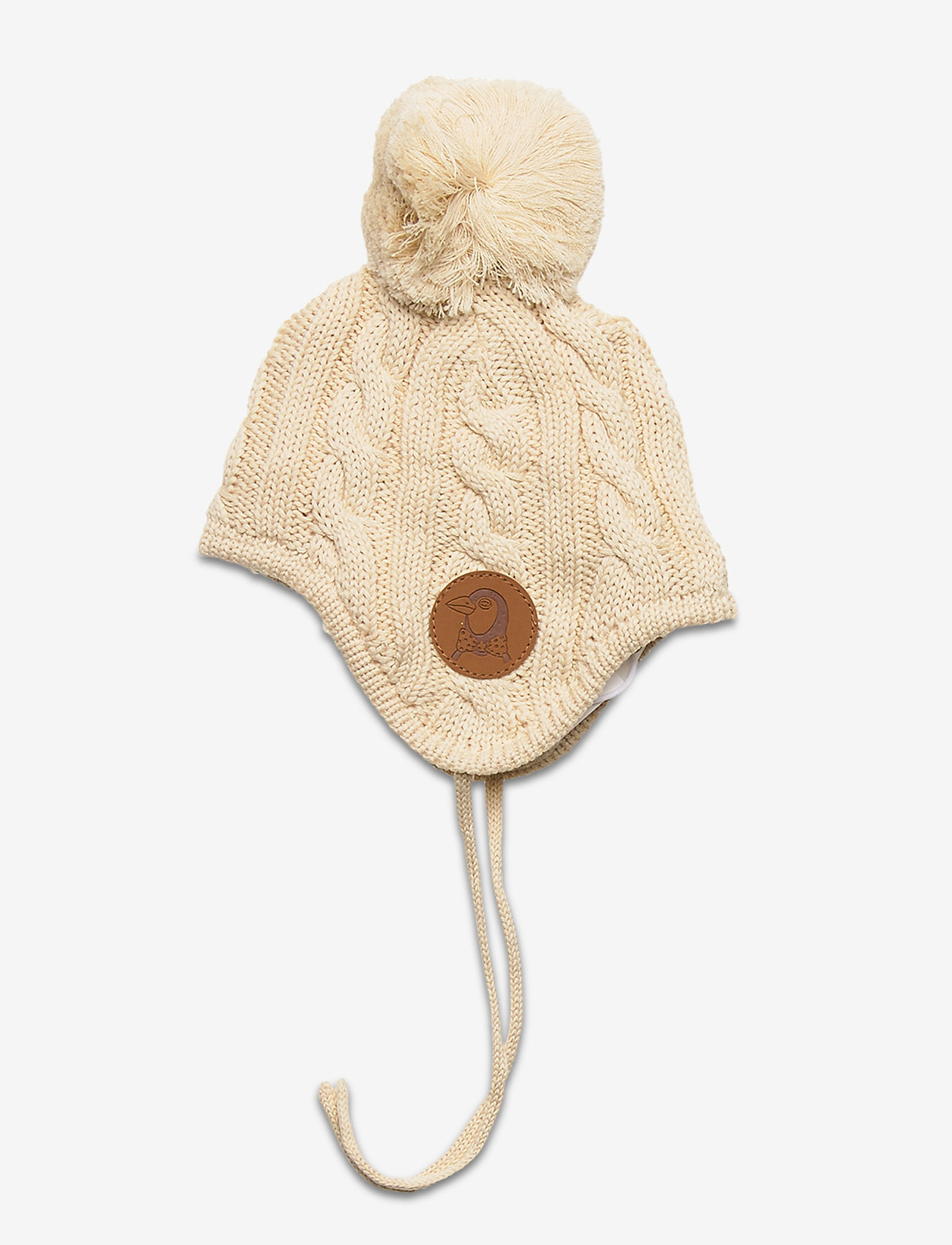 Mini Rodini - Cable knitted baby hat - hatte og handsker - offwhite - 1