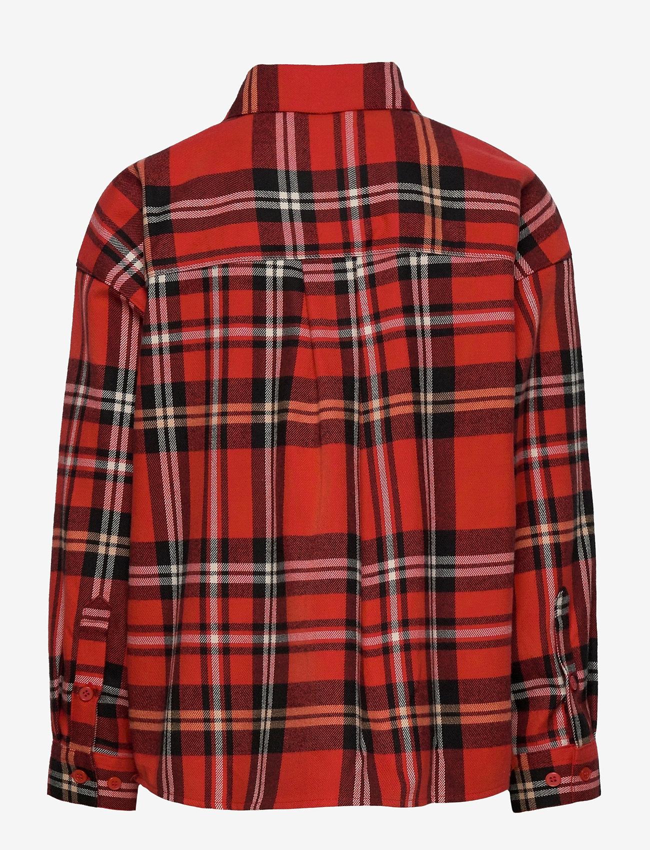 Mini Rodini - Woven flanell shirt - shirts - red - 1