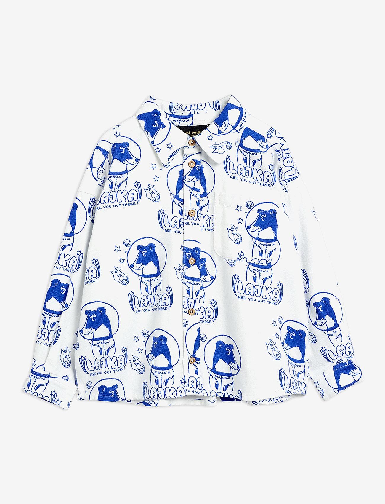 Mini Rodini - Lajka woven shirt - overhemden - offwhite - 0