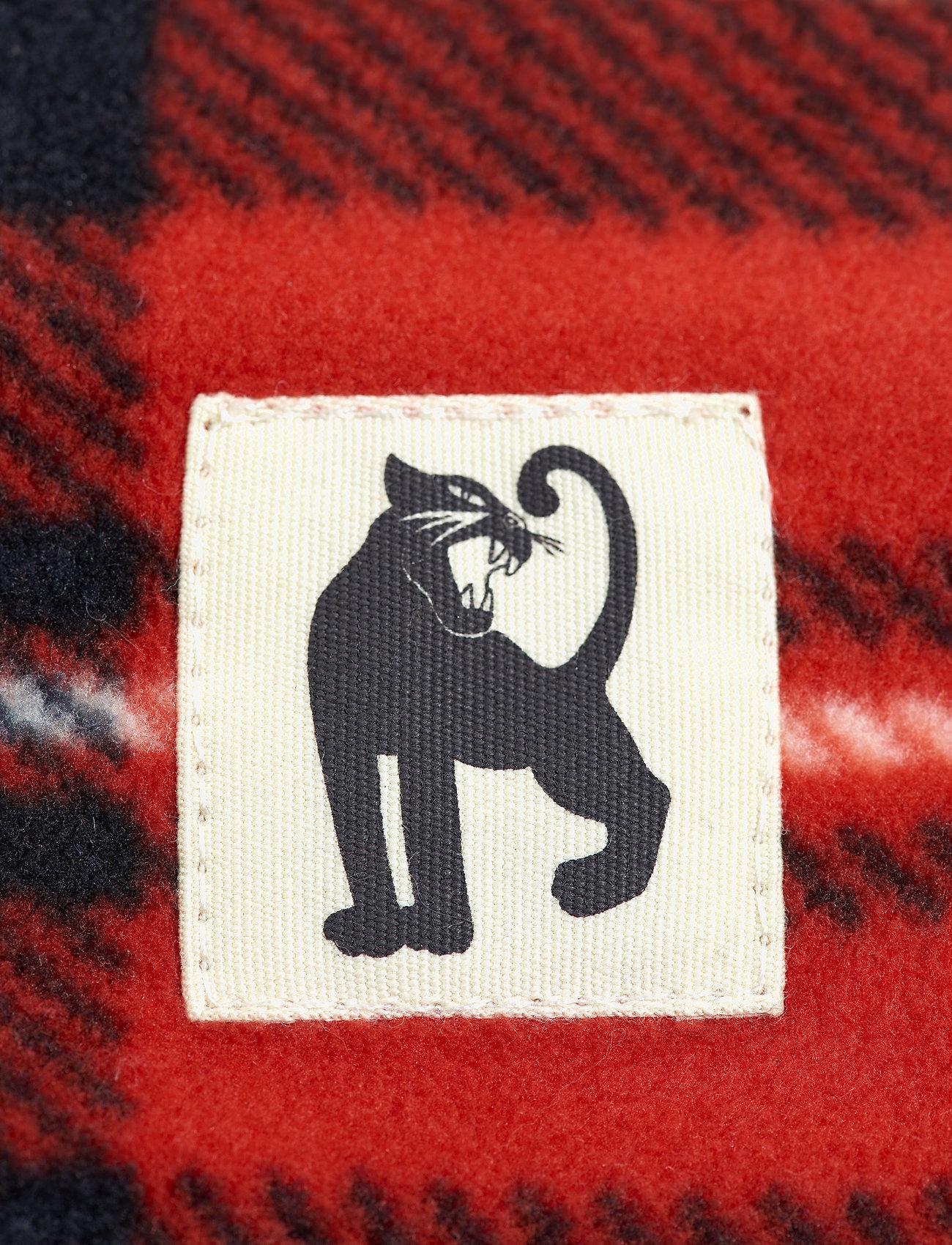 Mini Rodini - Fleece check tube - hatte og handsker - red - 1