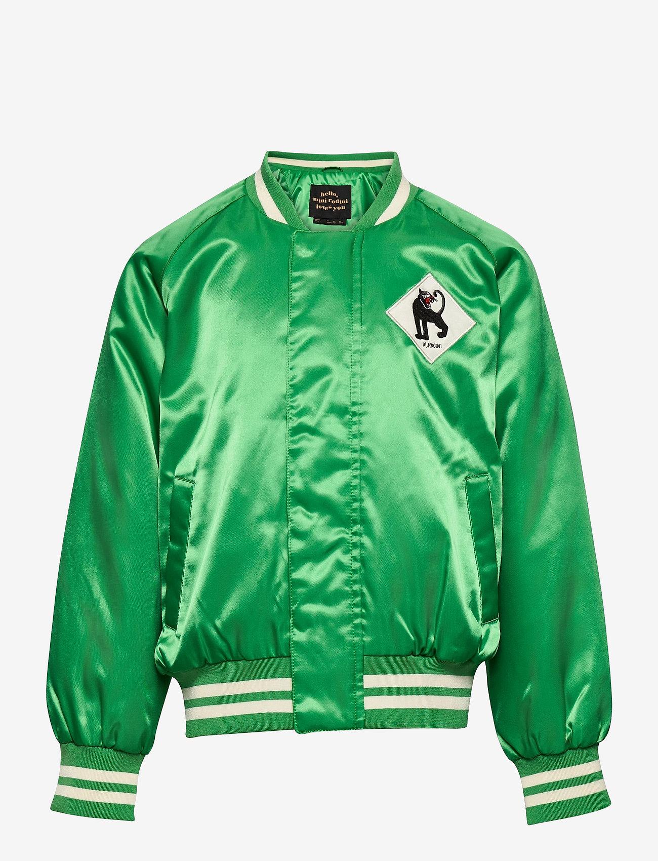 Mini Rodini - Panther baseball jacket - bomberjacks - green - 0