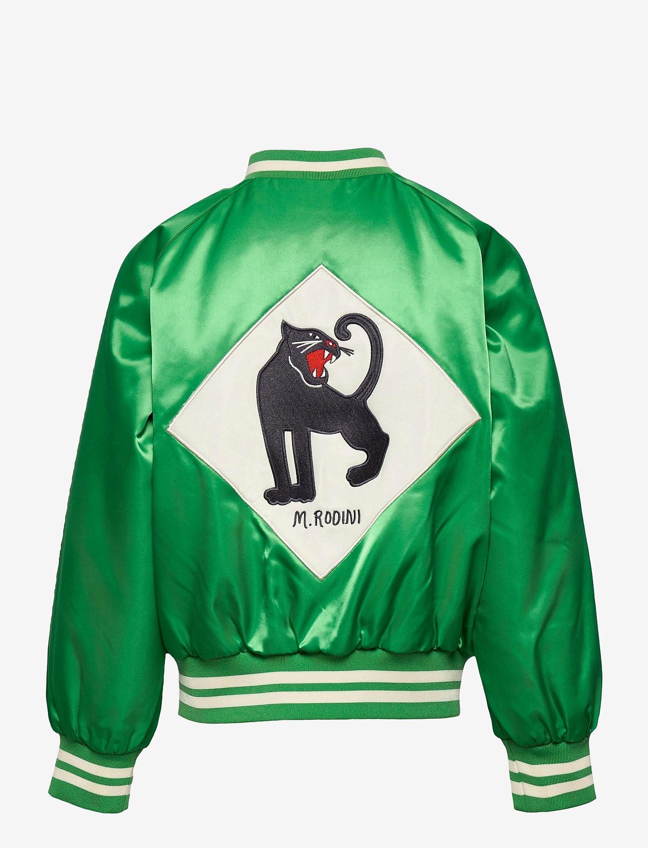 Mini Rodini - Panther baseball jacket - bomberjacks - green - 1