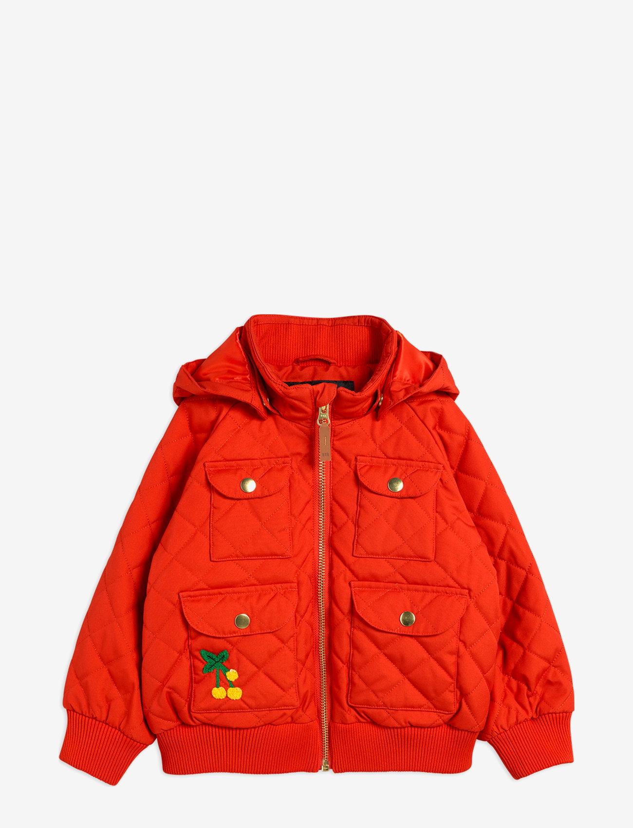 Mini Rodini - Cherry embroidery hooded jacket - windbreaker jassen - red - 0