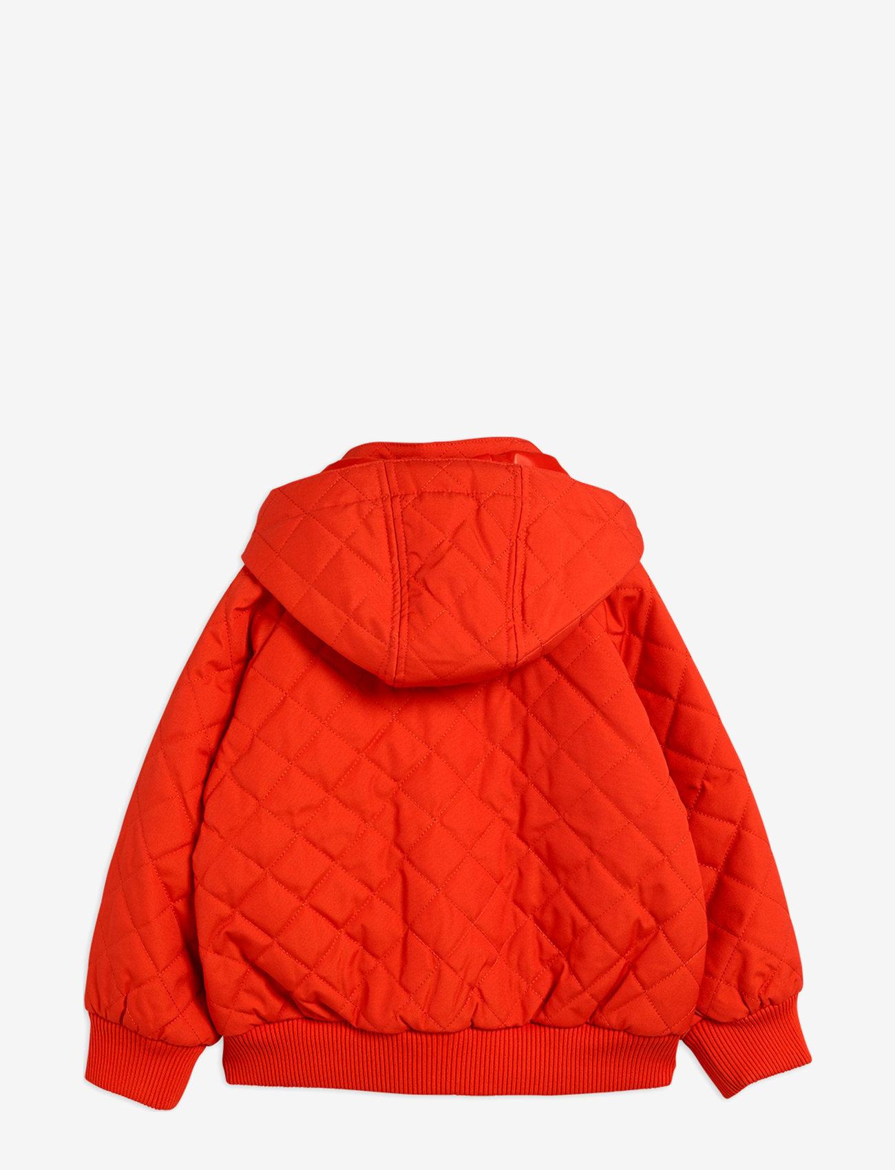Mini Rodini - Cherry embroidery hooded jacket - windbreaker jassen - red - 1