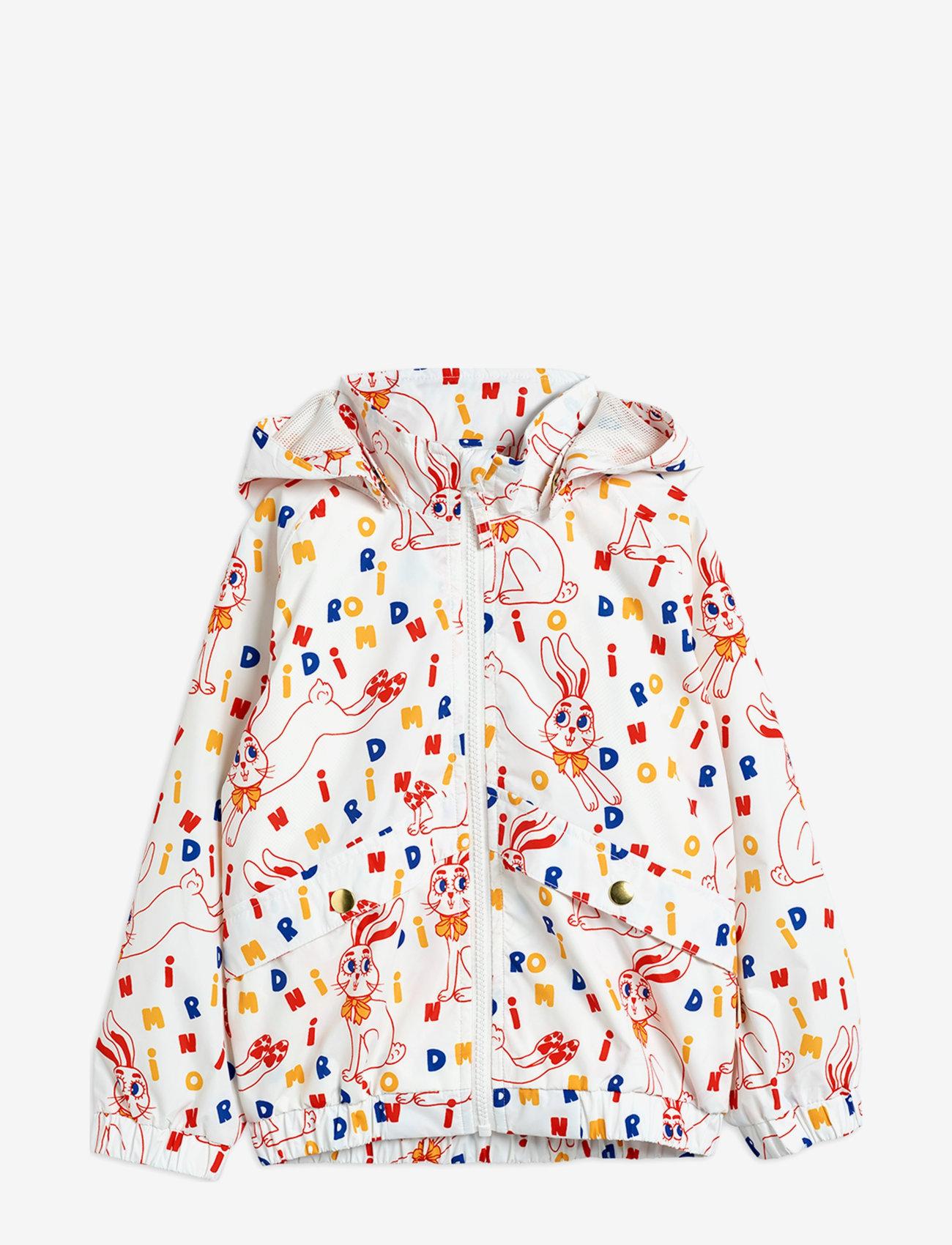 Mini Rodini - Rabbit sporty jacket - windbreaker jassen - offwhite - 0