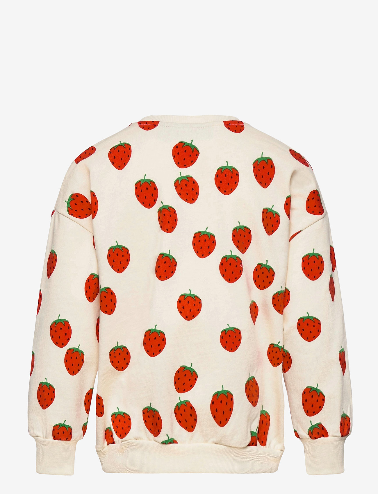 Mini Rodini - Strawberry aop sweatshirt - sweatshirts - offwhite - 1
