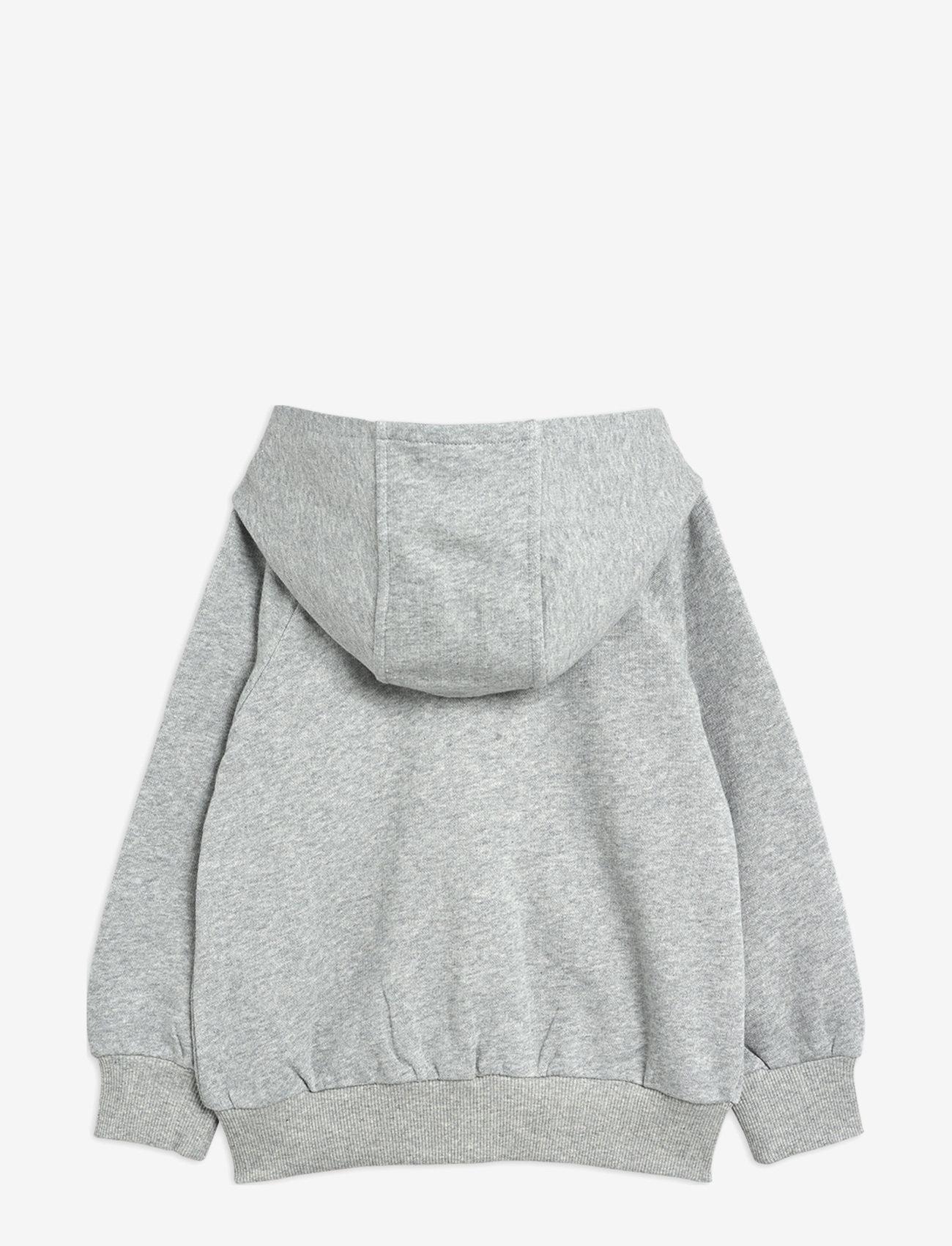 Mini Rodini - Tiger sp zip hoodie - sweatshirts & hoodies - grey melange - 1