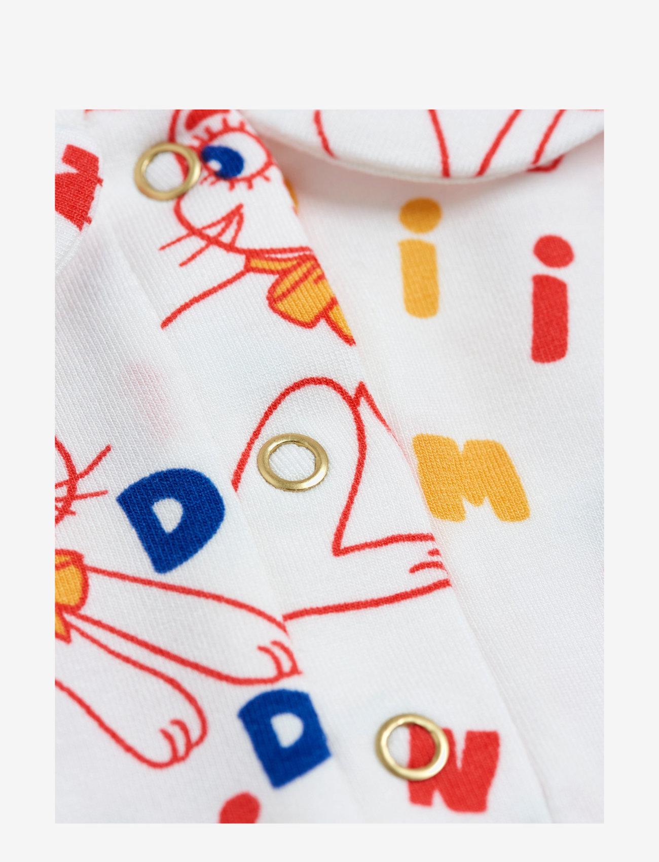 Mini Rodini - MR rabbit aop ss dress - kjoler & nederdele - offwhite - 3
