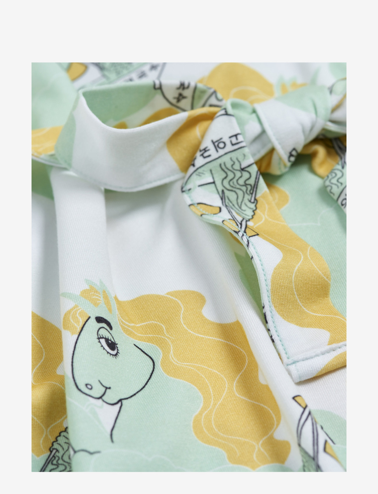 Mini Rodini - Unicorn noodles tank dress - jurken - green - 1