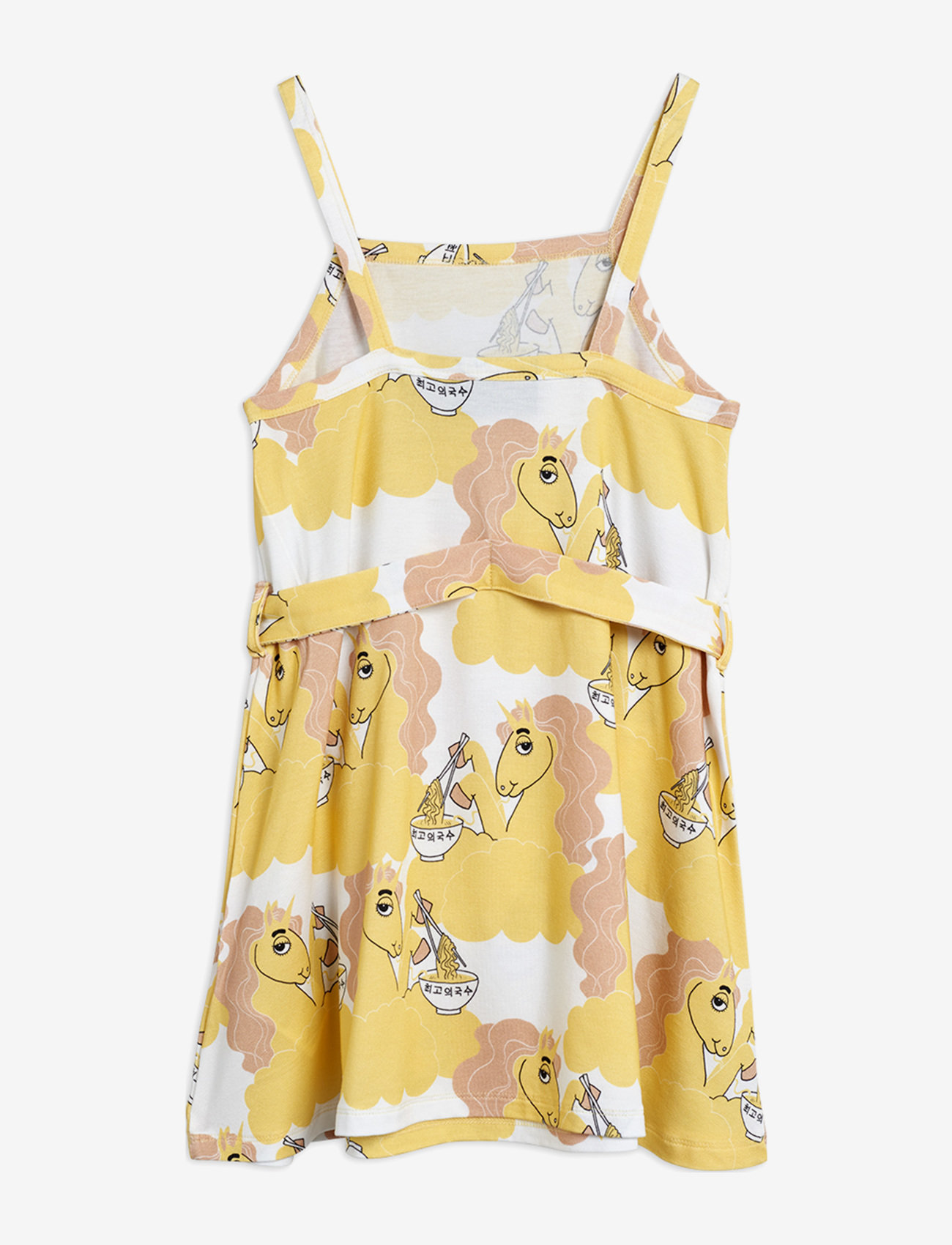 Mini Rodini - Unicorn noodles tank dress - jurken - yellow - 1