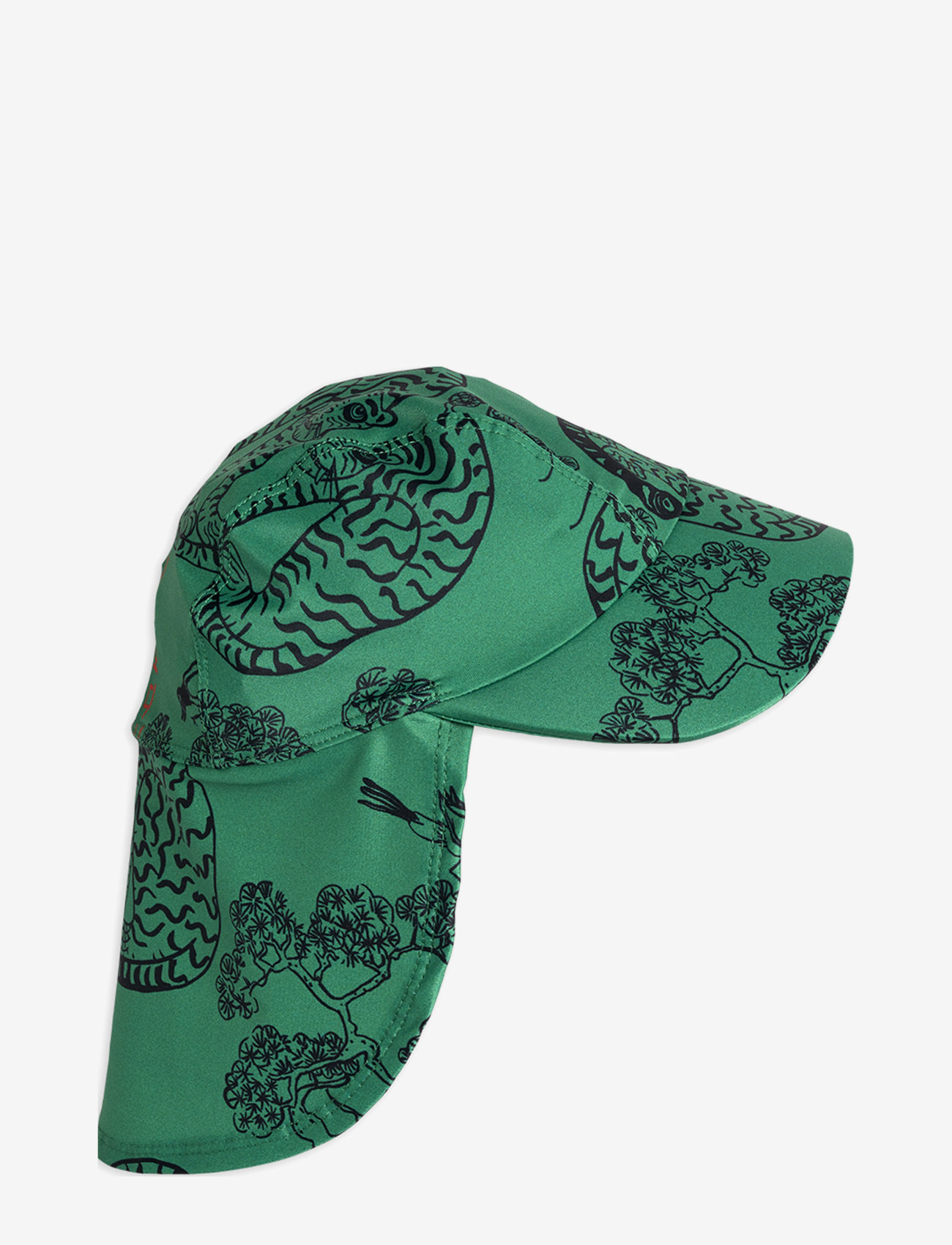 Mini Rodini - Tigers uv cap - solhat - green - 0