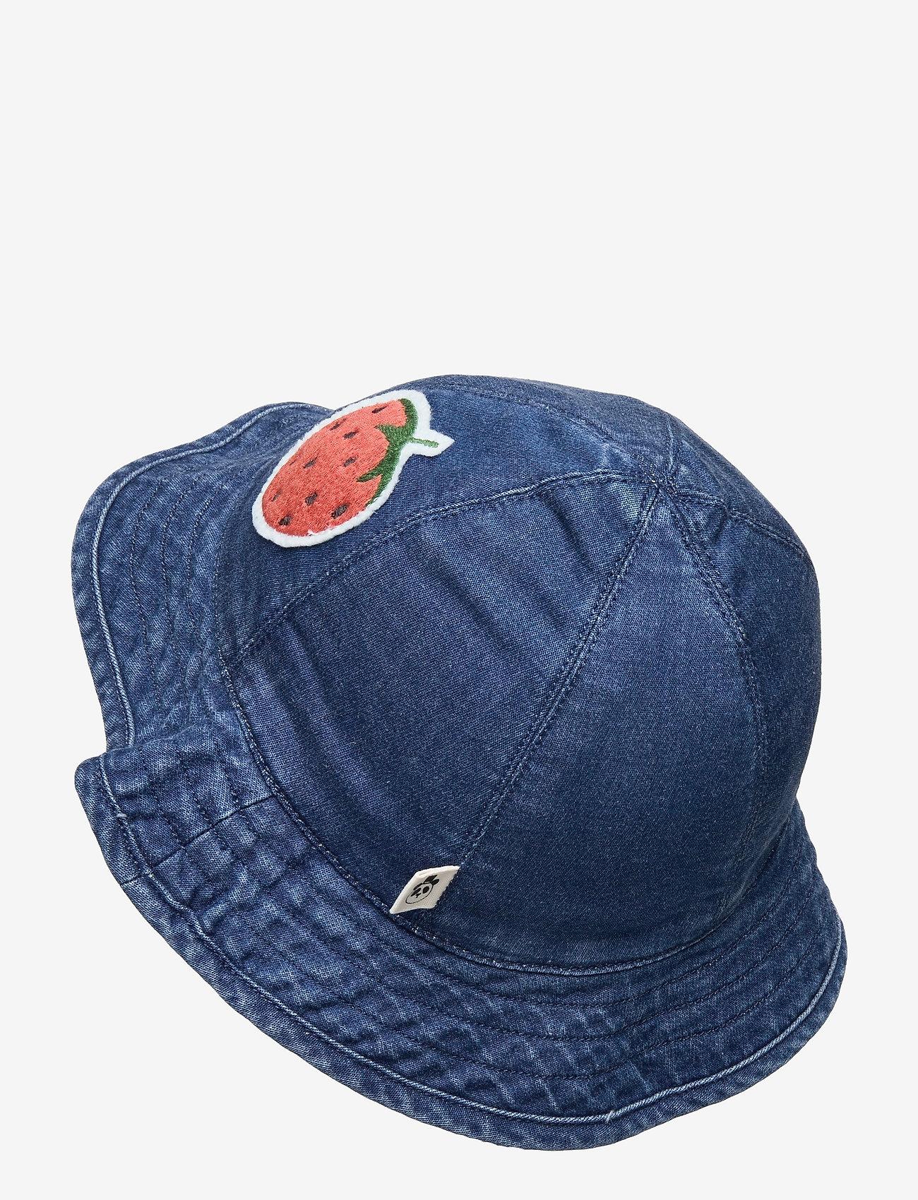 Mini Rodini - Denim strawberry sun hat - huer & kasketter - blue - 1