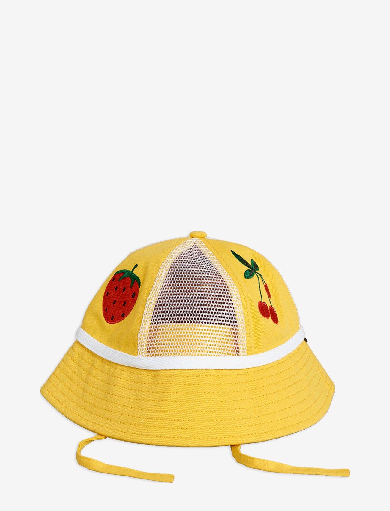 Mini Rodini - Mesh sun hat - solhat - yellow - 0