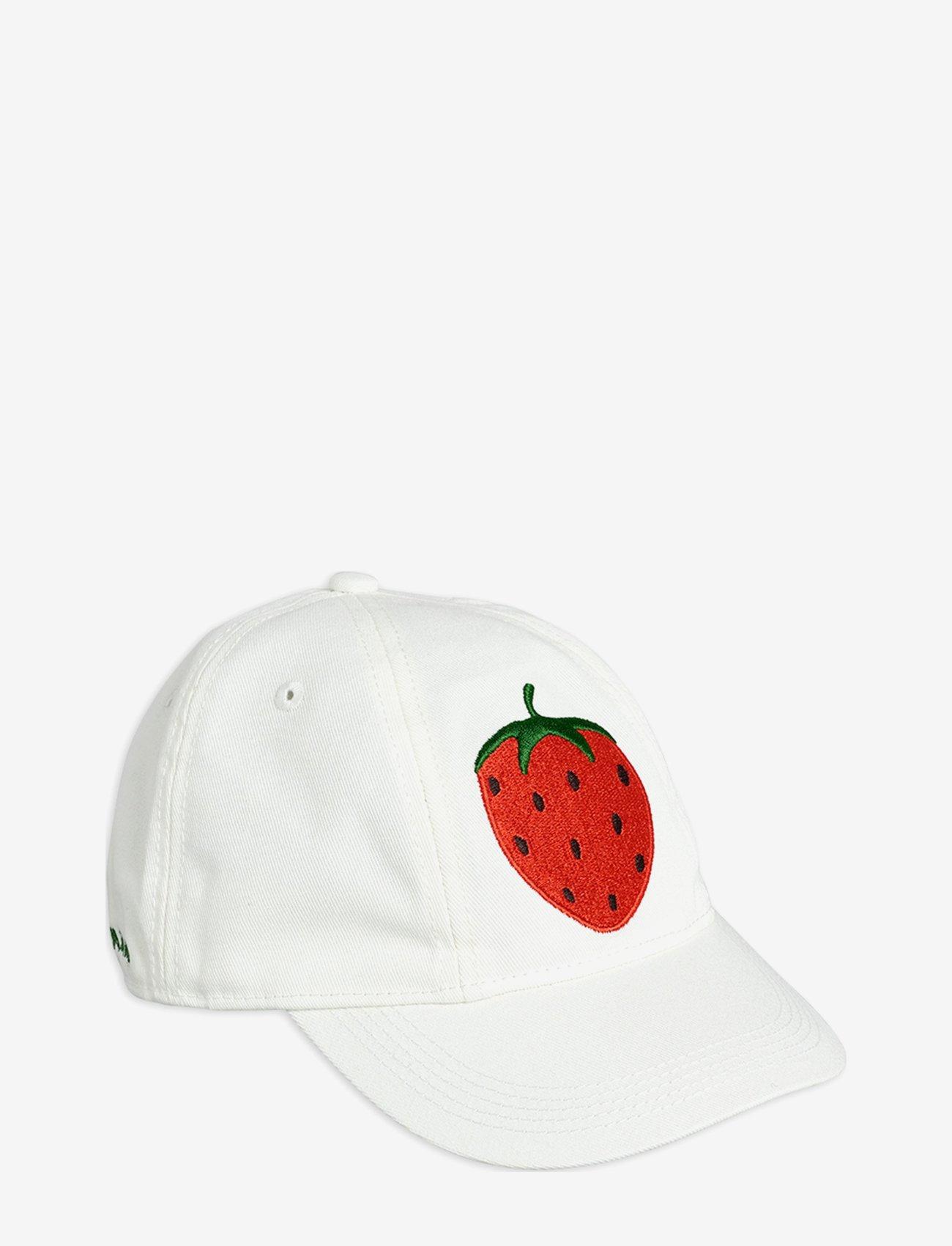 Mini Rodini - Strawberry soft cap - huer & kasketter - offwhite - 0