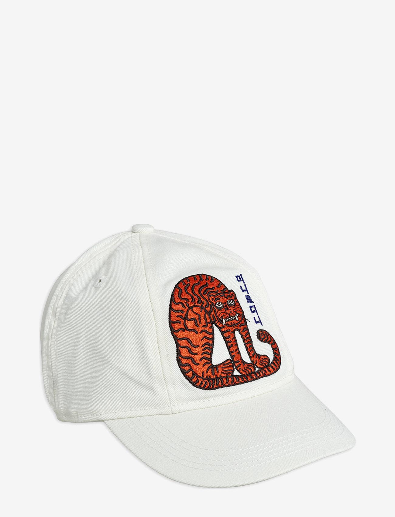 Mini Rodini - Tiger soft cap - mutsen - offwhite - 0
