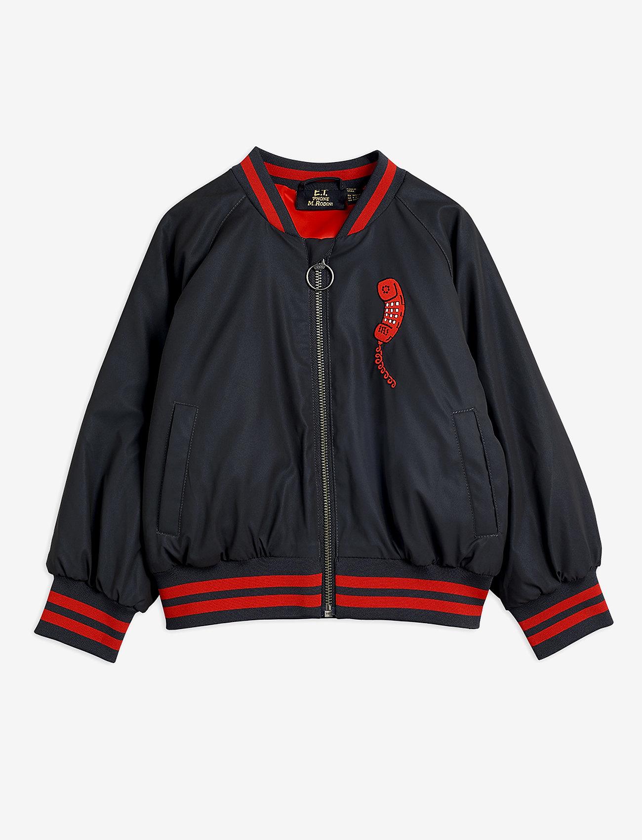 Mini Rodini - Reflective baseball jacket - bomberjacks - black - 0