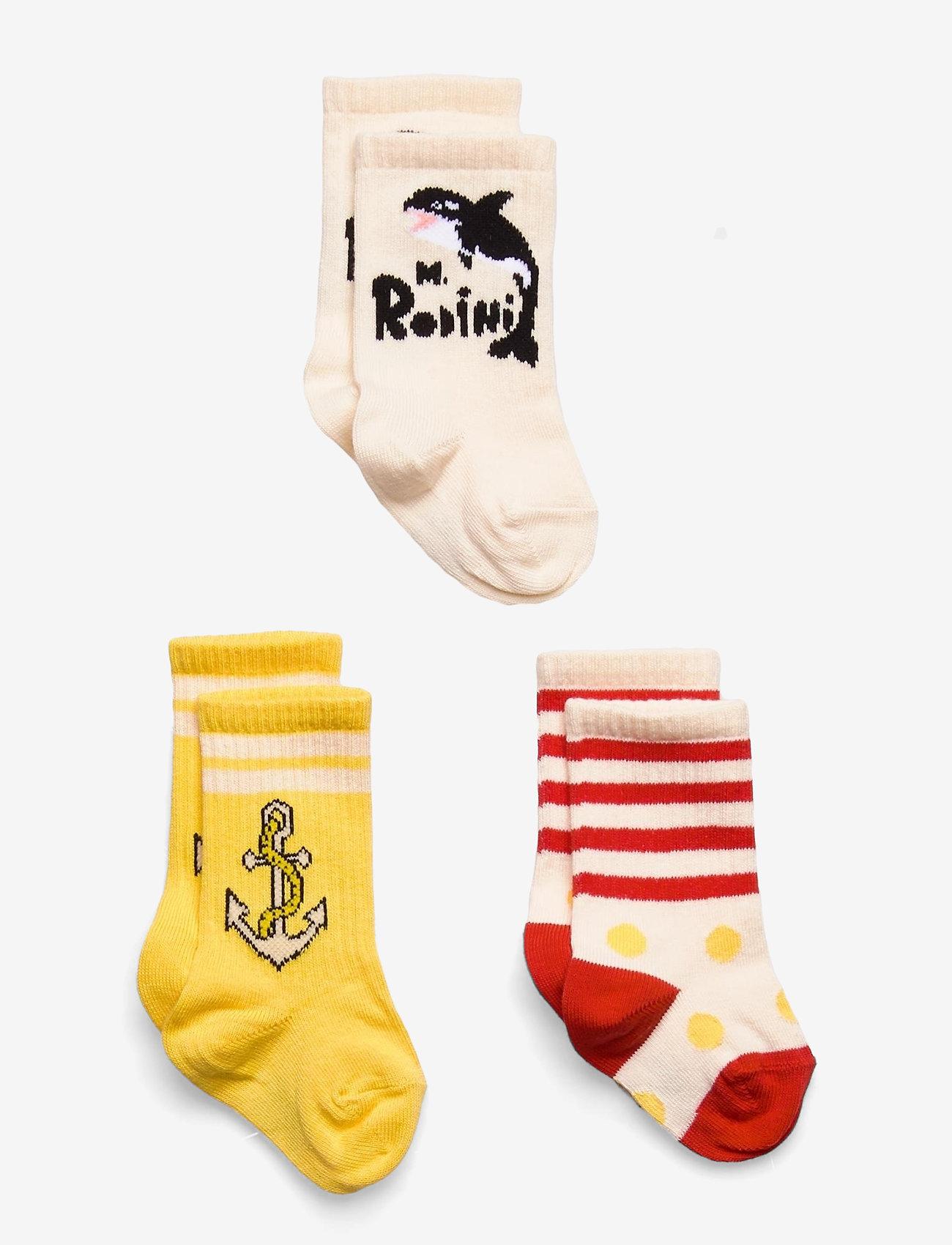 Mini Rodini - Orca 3-pack socks - skarpety & rajstopy - multi - 0