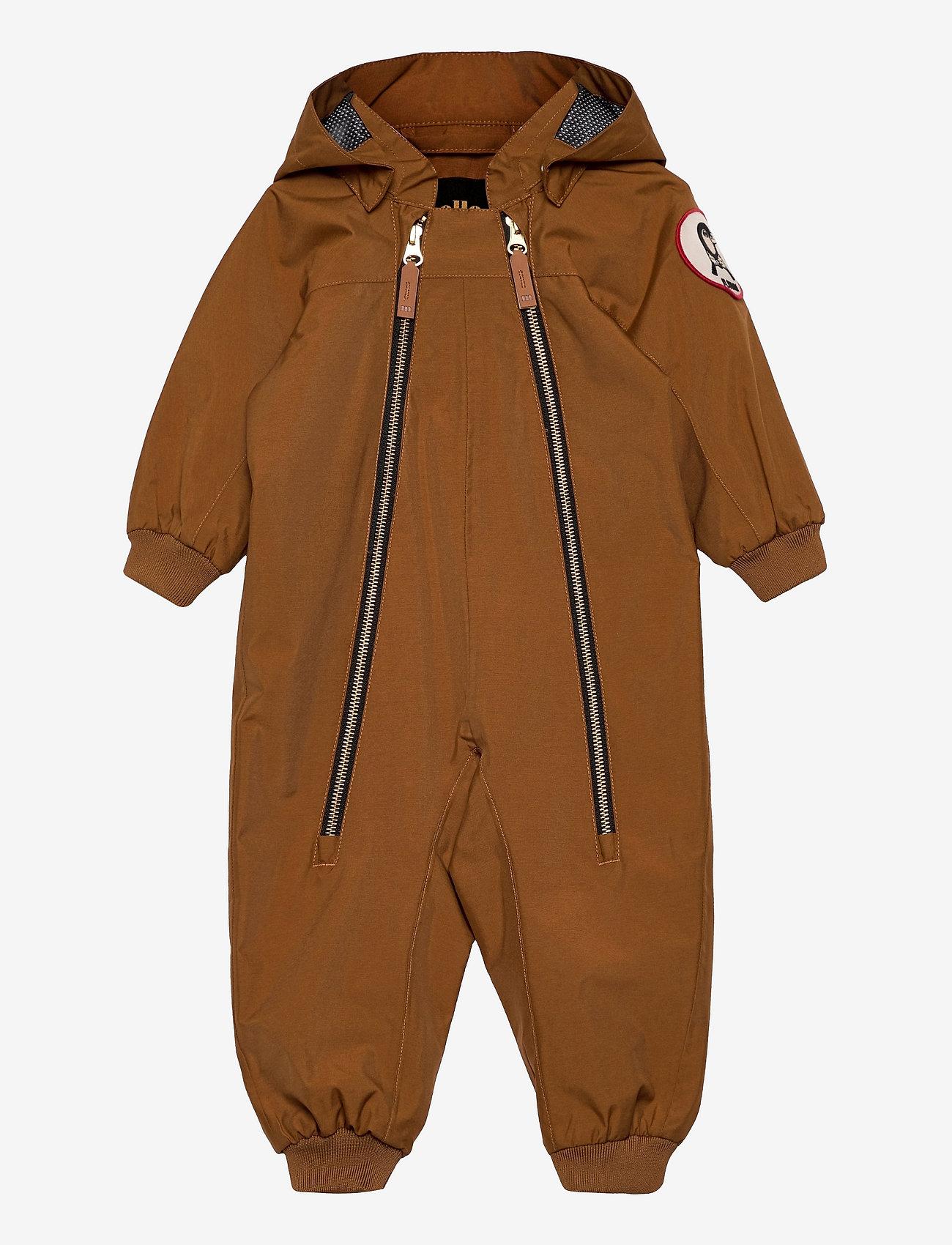Mini Rodini - Shell overall - snowsuit - brown - 0