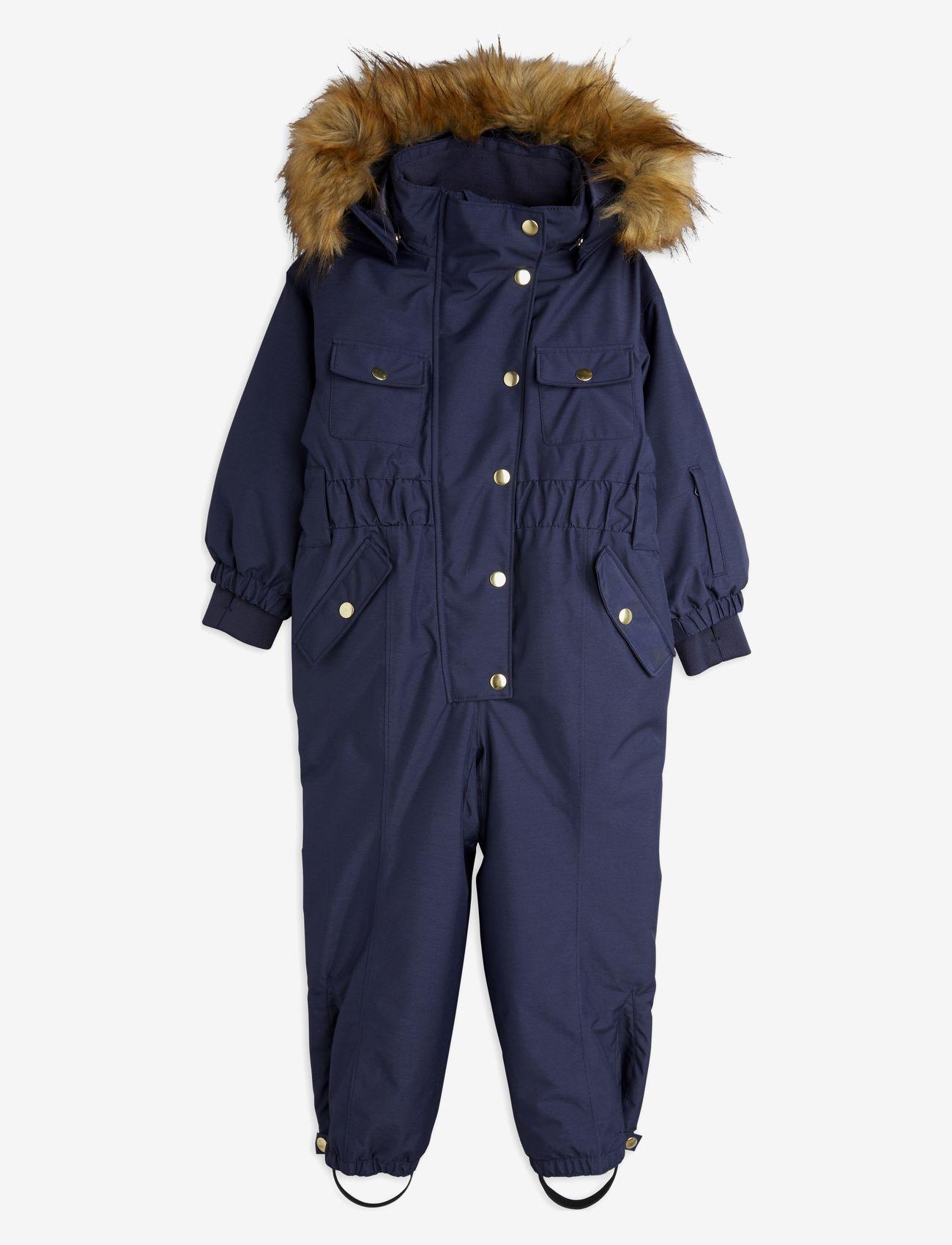 Mini Rodini - Soft ski overall - snowsuit - navy - 0