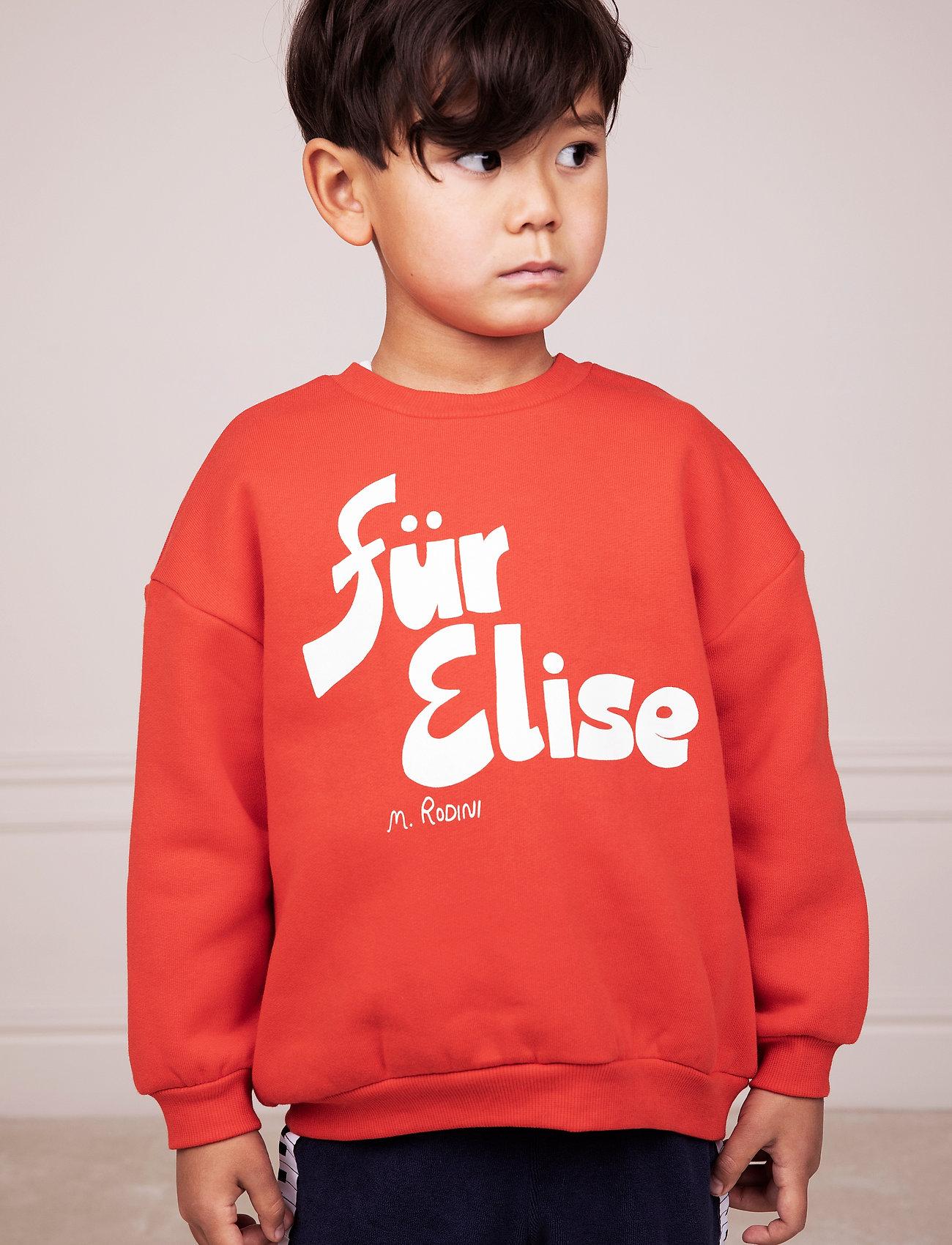 Mini Rodini - Für Elise sp sweatshirt - sweatshirts - red - 0