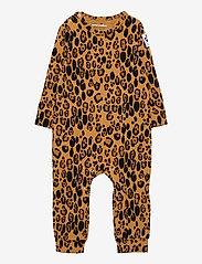 Mini Rodini - Basic leopard jumpsuit - langärmelig - beige - 0