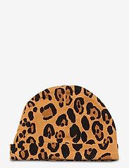 Mini Rodini - Basic leopard baby beanie - hatte og handsker - beige - 1