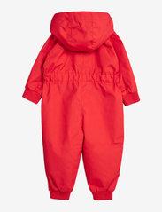 Mini Rodini - Pico baby overall - ensembles - red - 1
