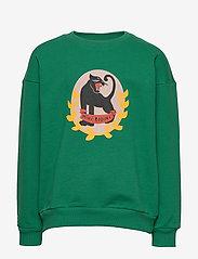Mini Rodini - Badge SP sweatshirt - sweatshirts - green - 0