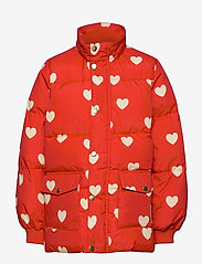 Mini Rodini - Hearts pico puffer jacket - puffer & padded - red - 2