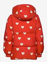 Mini Rodini - Hearts pico puffer jacket - puffer & padded - red - 3