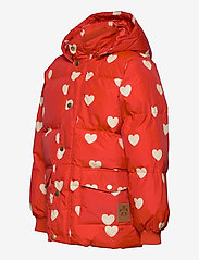 Mini Rodini - Hearts pico puffer jacket - puffer & padded - red - 4