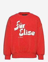Mini Rodini - Für Elise sp sweatshirt - sweatshirts - red - 1