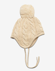 Mini Rodini - Cable knitted baby hat - hatte og handsker - offwhite - 0