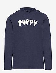 Mini Rodini - Puppy sp ls tee - langärmelig - navy - 0