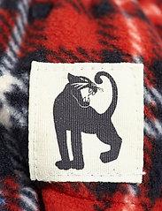 Mini Rodini - Fleece check mittens - hatte og handsker - red - 1