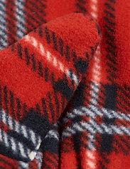 Mini Rodini - Fleece check mittens - hatte og handsker - red - 2