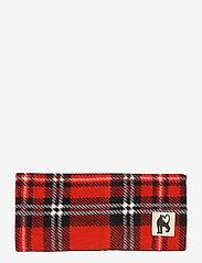 Mini Rodini - Fleece check tube - hatte og handsker - red - 0