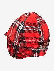 Mini Rodini - Fleece check cap - hatte og handsker - red - 1