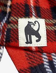 Mini Rodini - Fleece check cap - hatte og handsker - red - 2