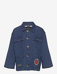 Mini Rodini - Denim strawberry safari jacket - spijkerjassen - blue - 0