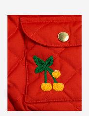 Mini Rodini - Cherry embroidery hooded jacket - windbreaker jassen - red - 3