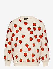 Mini Rodini - Strawberry aop sweatshirt - sweatshirts - offwhite - 0