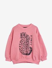 Mini Rodini - Tiger sp sweatshirt - sweatshirts - pink - 0