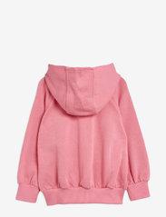Mini Rodini - Tiger sp zip hoodie - sweatshirts - pink - 1