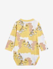 Mini Rodini - Unicorn noodles aop ls body - kurzärmelige - yellow - 1