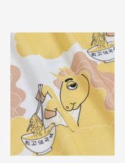 Mini Rodini - Unicorn noodles aop ls body - kurzärmelige - yellow - 2