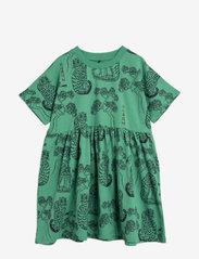 Mini Rodini - Tigers aop ss dress - jurken - green - 0