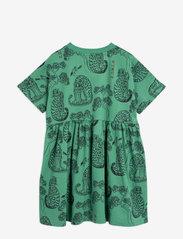 Mini Rodini - Tigers aop ss dress - jurken - green - 1