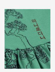 Mini Rodini - Tigers aop ss dress - jurken - green - 2