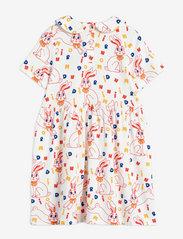 Mini Rodini - MR rabbit aop ss dress - kleider - offwhite - 1